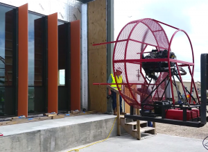 Z6 Commissioning performing dynamic wind load testing