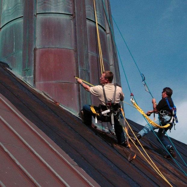 Project spotlight: moody methodist church steeple cladding repairs 7
